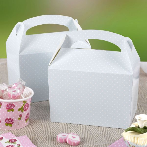Polka Dot Lunch Boxes Blue (8)
